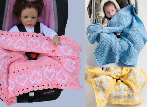 Car Seat Blanket Crochet Patterns Make Hearts Diamonds Or Stars