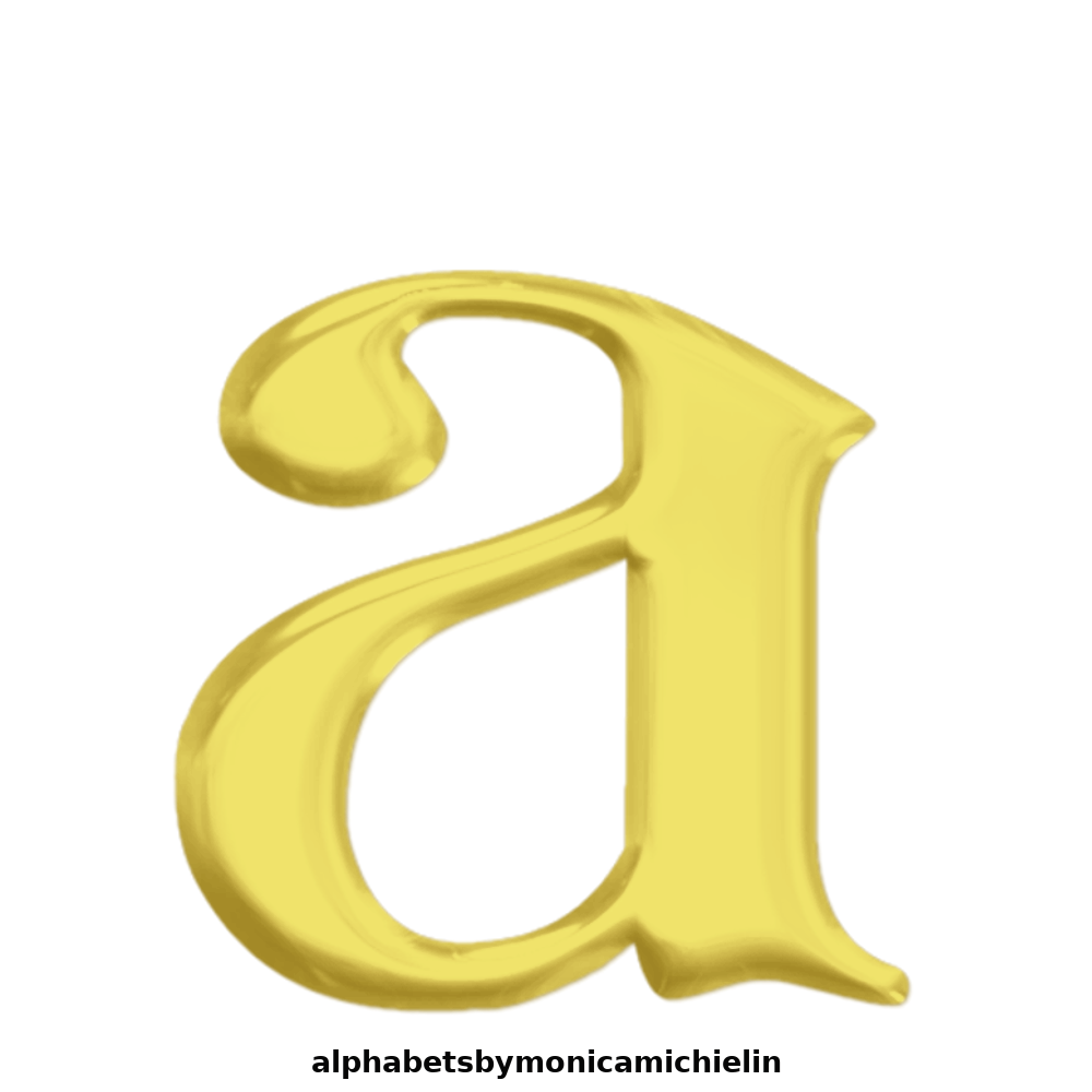 Monica Michielin Alfabetos 14 GOLDEN GLITTER ORNAMENT
