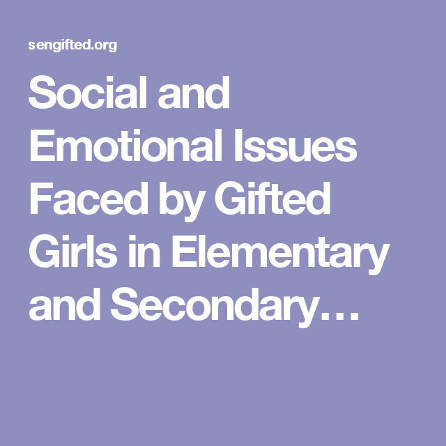 Issues social and emotional Social &