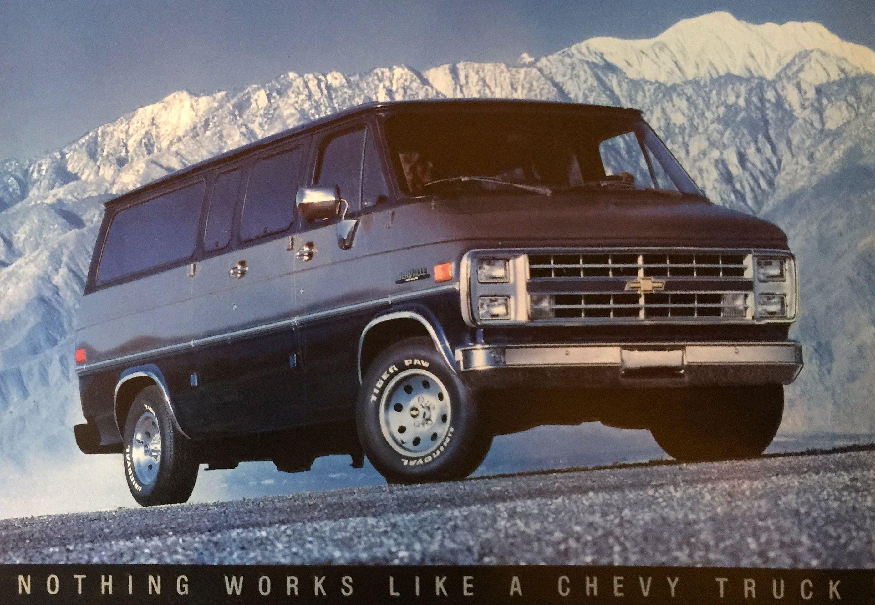 Chevrolet van beauville taken to the road pinterest chevrolet van chevrolet and vans