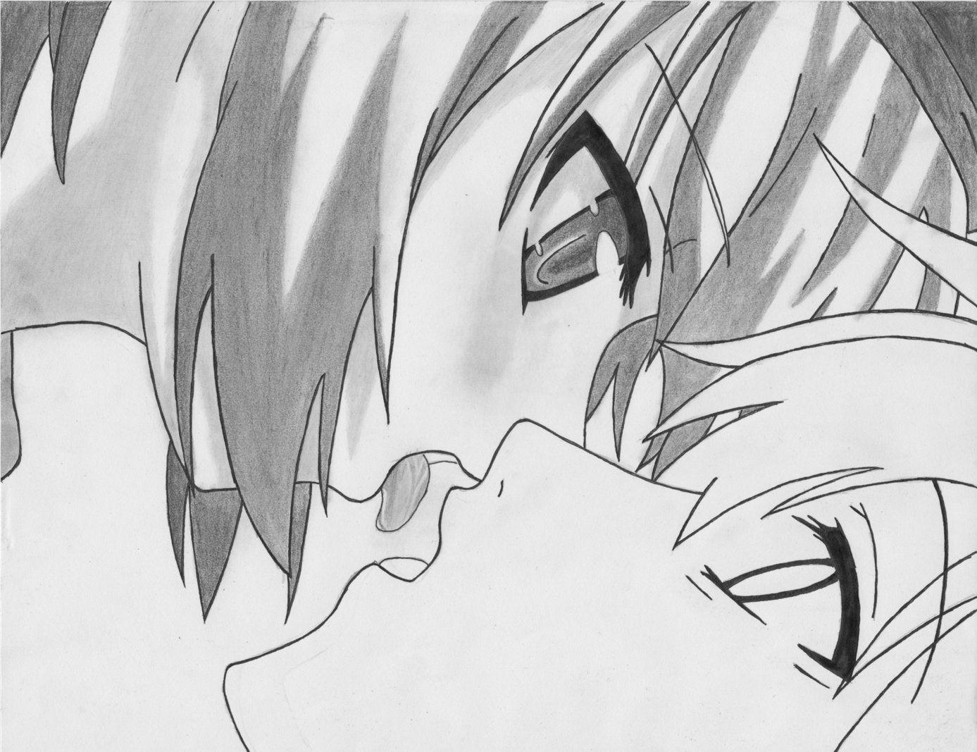 Beso Anime Para Dibujar Buscar Con Google Dibujos Anime