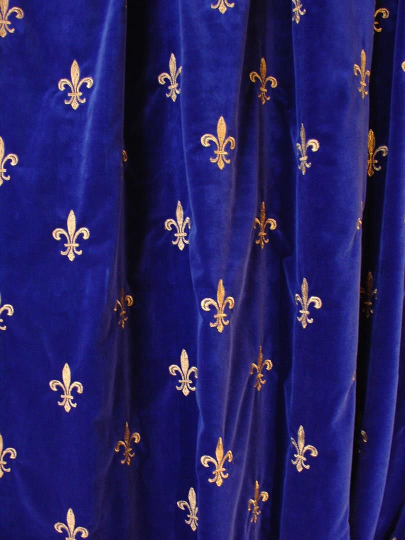 Embroidered French Velvet Embroidered Royal Velvet
