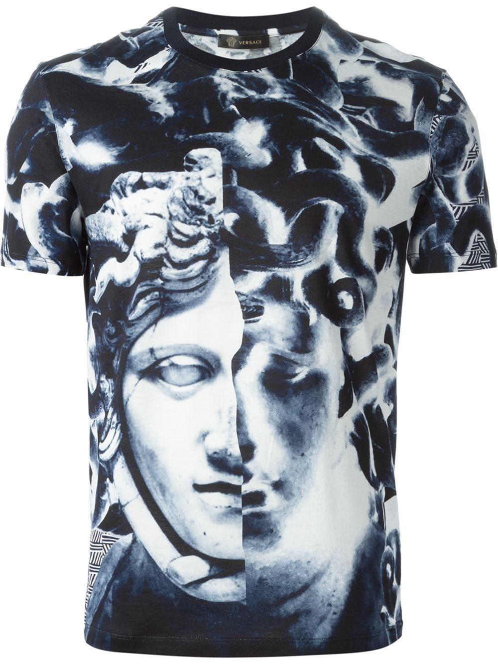 Versace Medusa T-shirt - Zoo Fashions - Farfetch.com   royal ... 67031980bfa