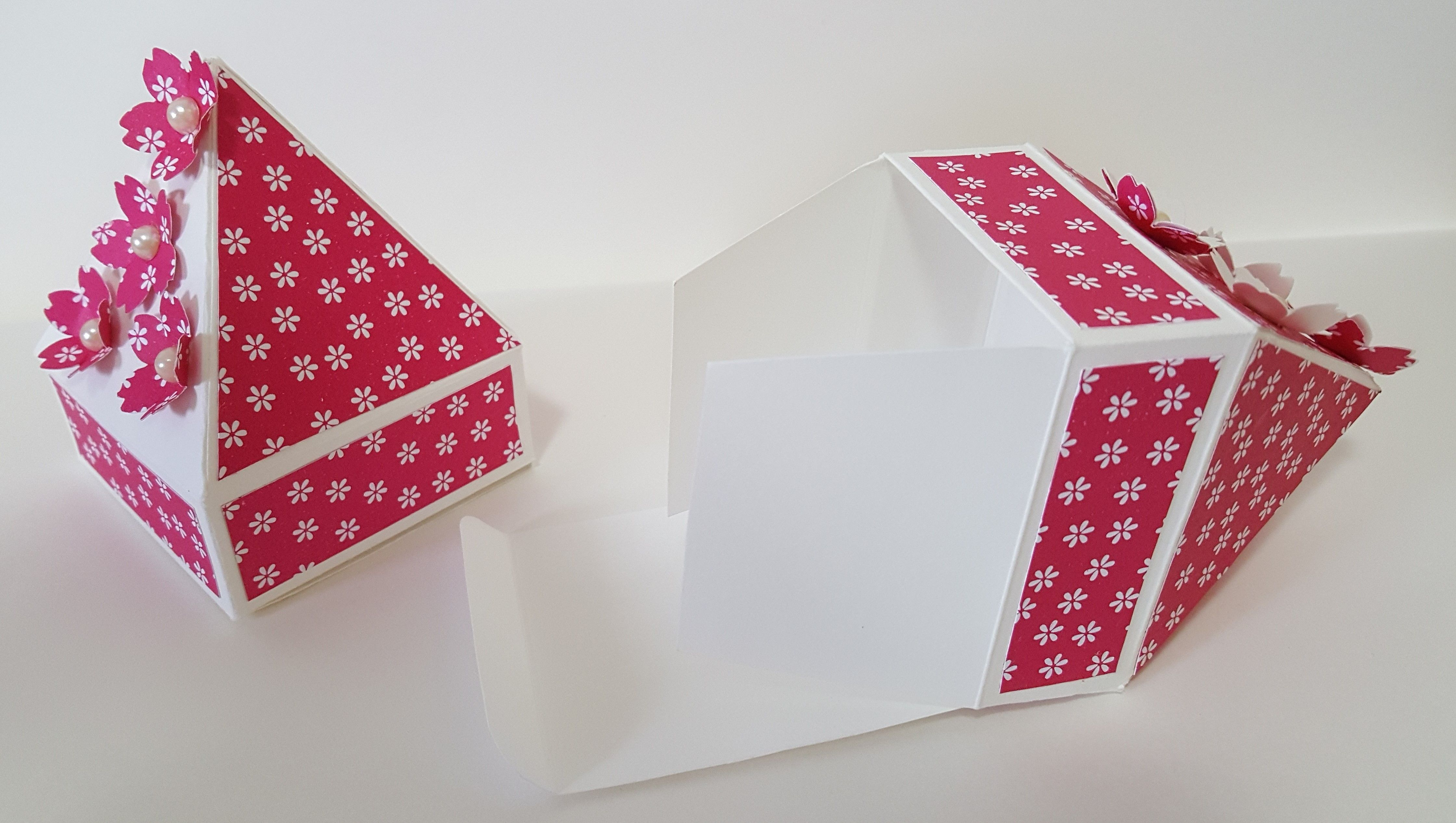 Flower Pyramid Box, for Easter Eggs.