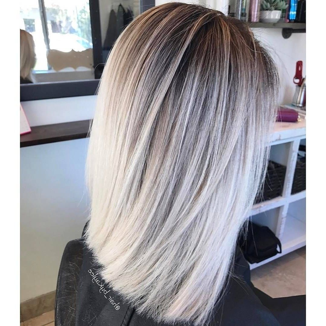 Balayage Blonde Straight Hair Short