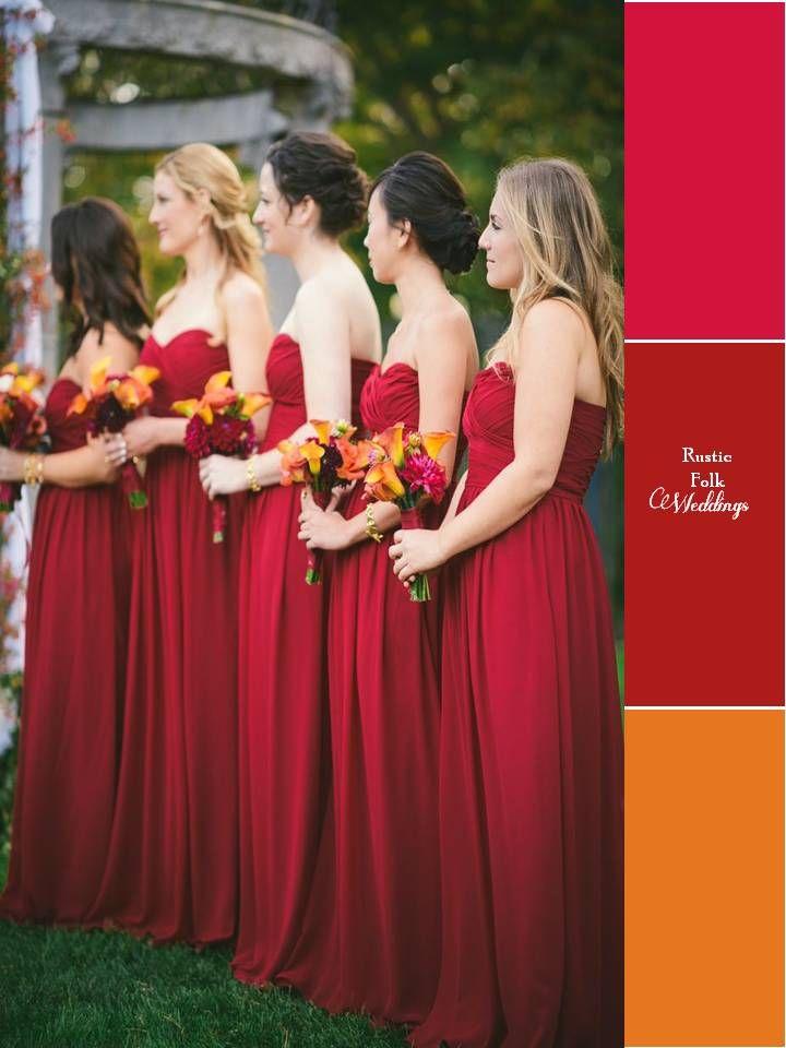 5 Fall Inspired Wedding Color Palettes Sandys Favs Pinterest