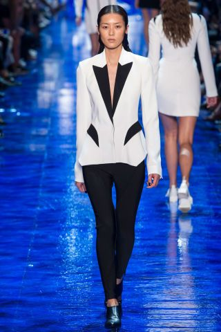 Mugler Spring 2017. See the hottest runway looks and spring trends from Paris Fashion Week: