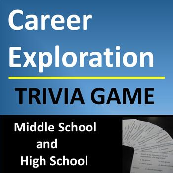 Career Exploration Trivia Question Game for Middle or High School - free career test