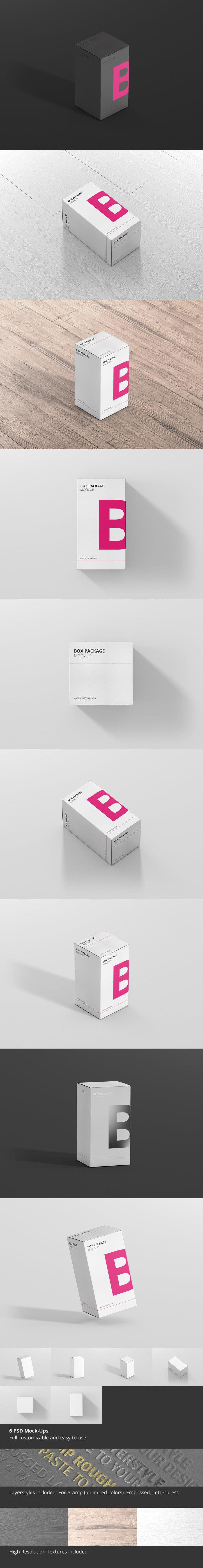 Download Package Box Mock Up Rectangle Box Packaging Mockup Rectangle
