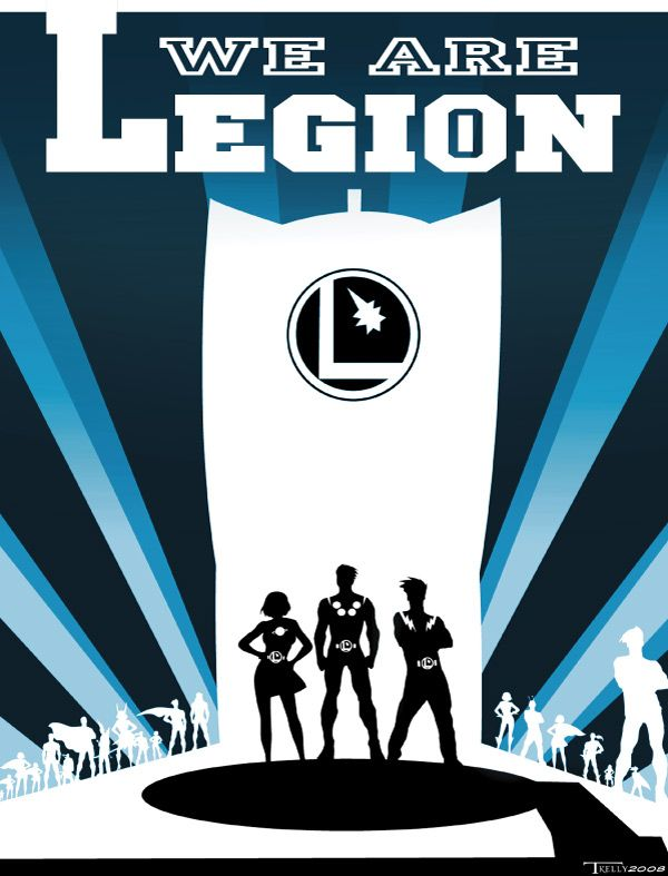 we are legion by TomKellyART.deviantart.com, Legion of Super Heroes