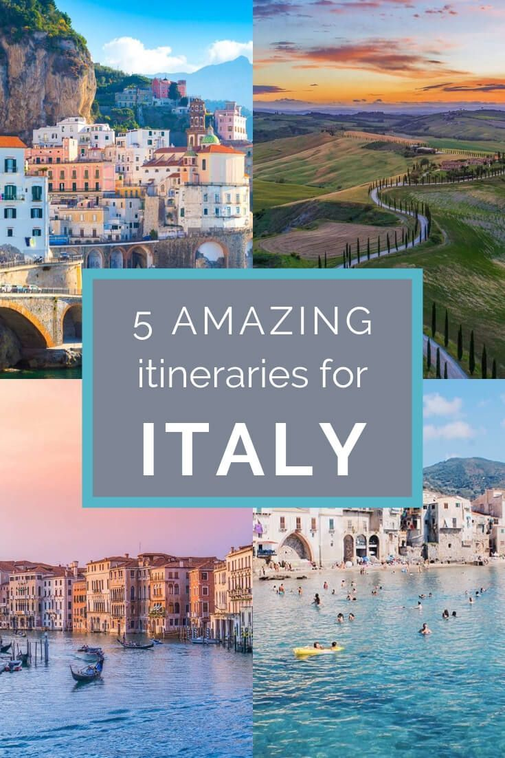 How to Spend 10 Days in Italy: Five Different Itinerary Ideas #planningyourday