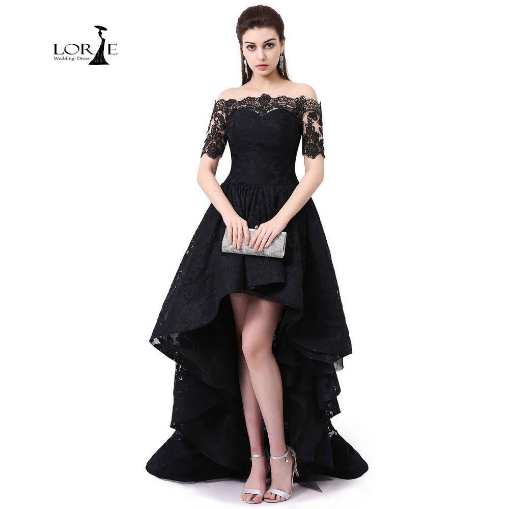 Lace Dresses Hi Low Vestidos De Graduacion Largos 2017 Off The ...