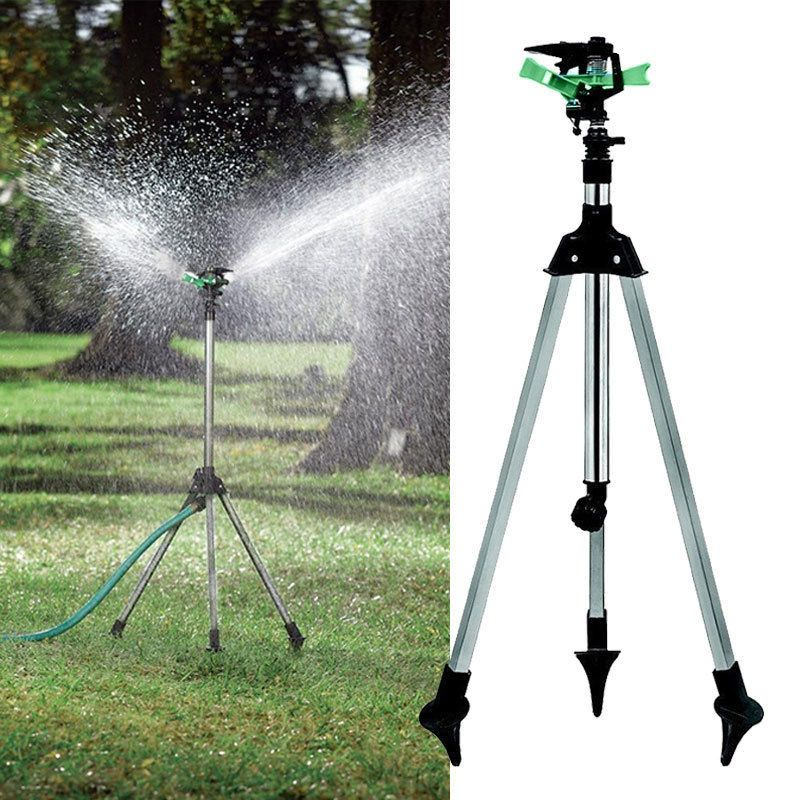 2016 New High Quality Tripod Impulse Sprinkler Pulsating Telescopic Watering Lawn Yard And Garden Bewasserung Garten Garten Sprenger Garten Bewasserungssystem