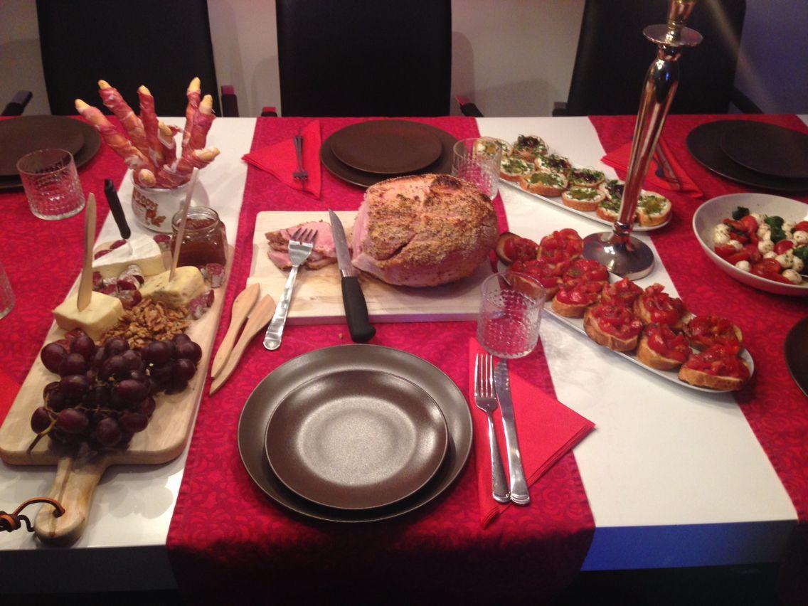 Christmas Dinner - Italian appetizers & Julskinka @Home