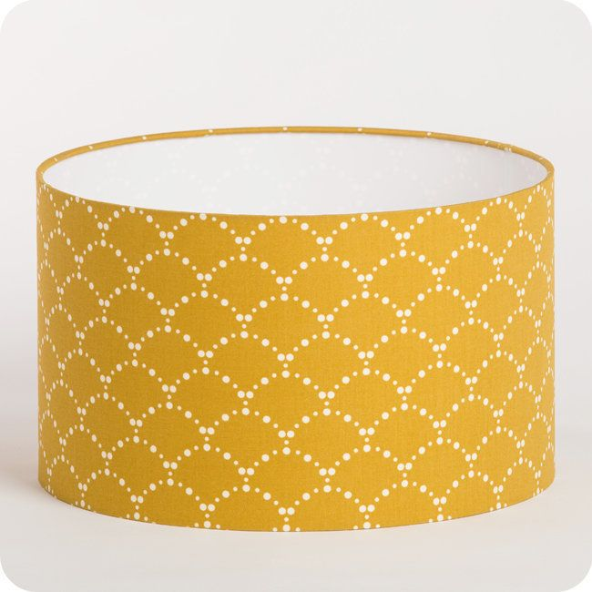 abat jour suspension cylindrique tissu asahi moutarde couleur moutarde pinterest abat. Black Bedroom Furniture Sets. Home Design Ideas