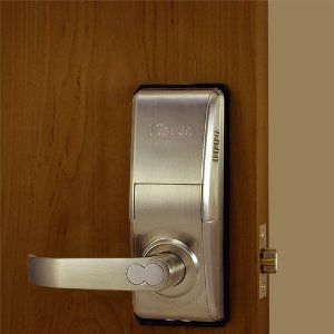1touch Iq2 Biometric Fingerprint Door Lock Right Handed Brushed Nickel By Fingerprintdoorlocks 339 Fingerprint Door Lock Fingerprint Lock Home Hardware