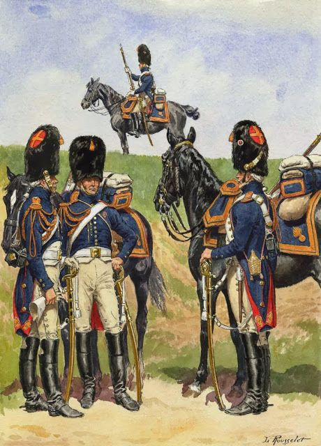 Grenadiers a Chevau in Campaign Dress 1806-1814 by L Rousselot