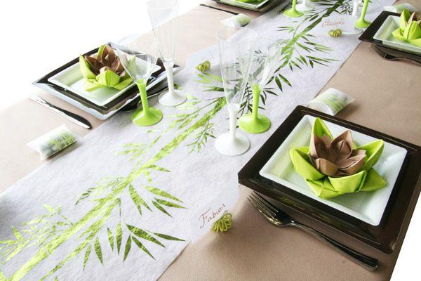 Marque place theme exotique et bambou id al pour une for Idee deco bambou