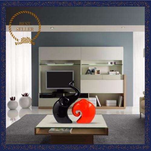 . Ornament Elephant Modern Figurine Sculpture Home Decor Living Room