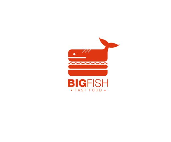 Big Fish Fast Food Logo Design Restaurant Logo Design Logo Restaurant Logo Design Diy