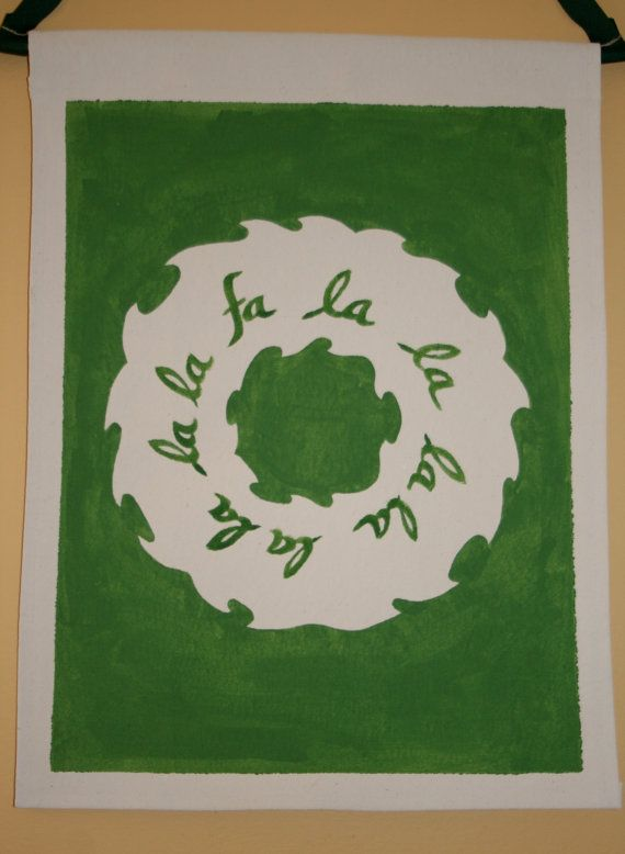 Christmas Canvas Wall Hanging  Handpainted by FortunatelyCrafted $28.00 at Fortunately Crafted on Etsy! ** If you found me on Pinterest, get 10% off your order with coupon code PINNERS10 **   https://www.etsy.com/listing/209774788/christmas-canvas-wall-hanging