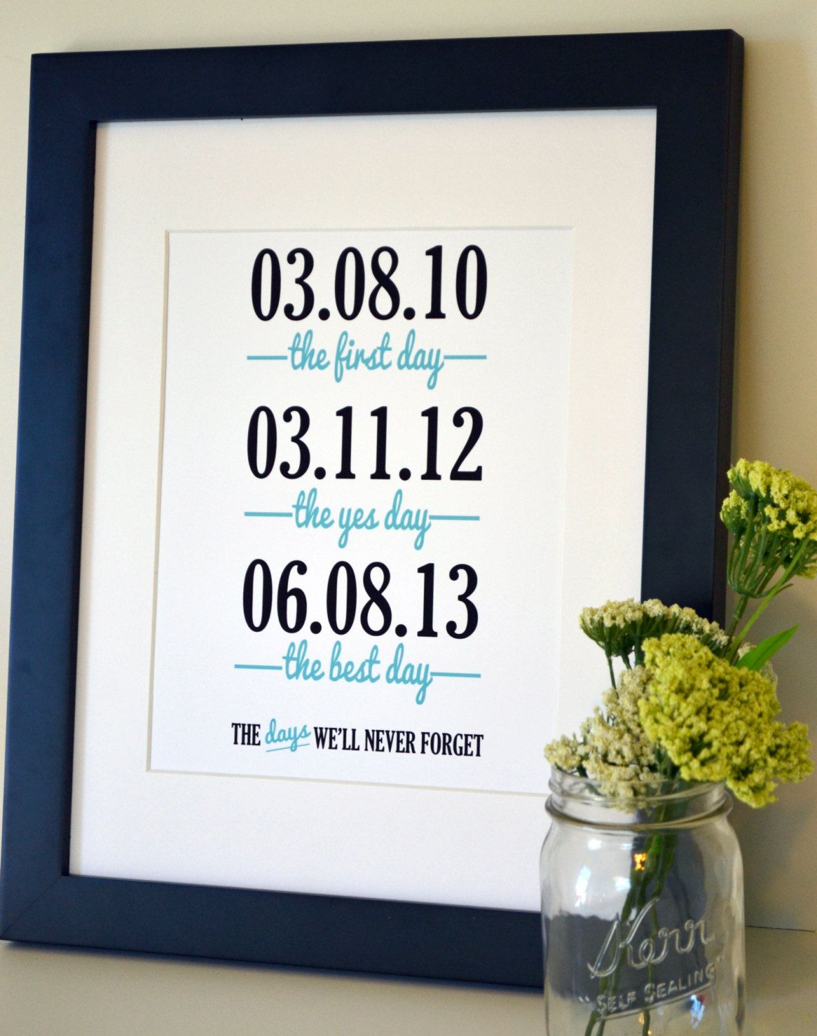 Wedding sign print 11x14 the first day the yes day anniversary gift for husband 11x14 print anniversary gift wedding sign wedding gift gift negle Images