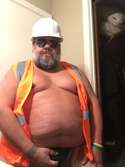 Construction blue collar daddy bear