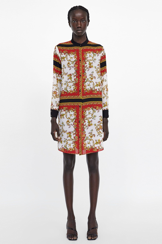 a4afa1f50 Image 1 of PRINTED BLOUSE from Zara | zara dress in 2019 | Printed ...