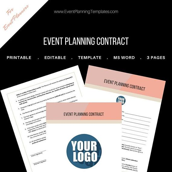 This is a designed standard Contract for Event Planners and Wedding