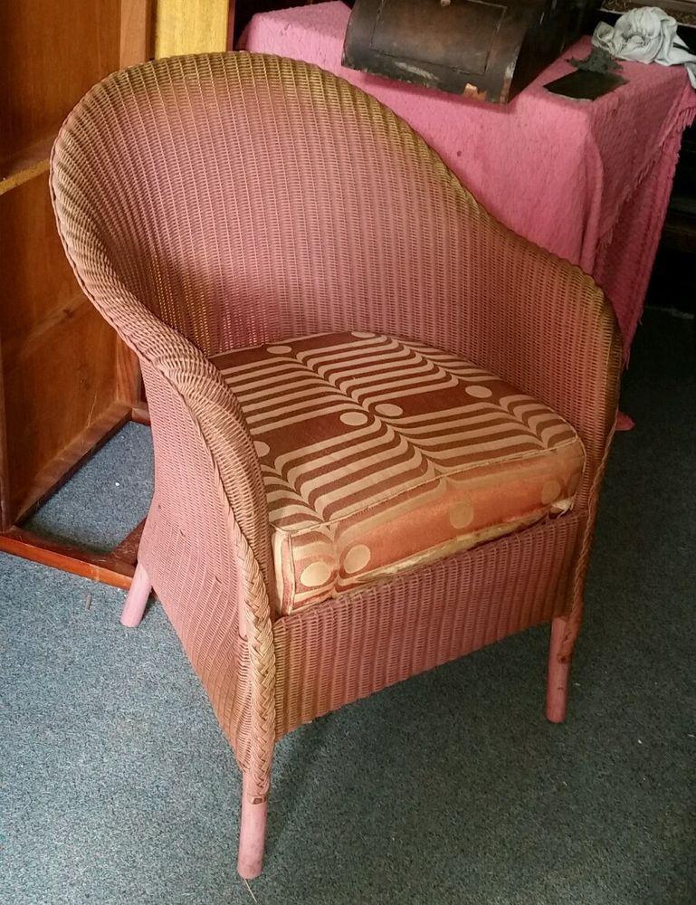 Excellent Lloyd Loom Lusty Sprung Chair Art Deco Original Label Ibusinesslaw Wood Chair Design Ideas Ibusinesslaworg