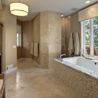 Doorless shower w privacy and private toilet area for - Doorless shower in small bathroom ...