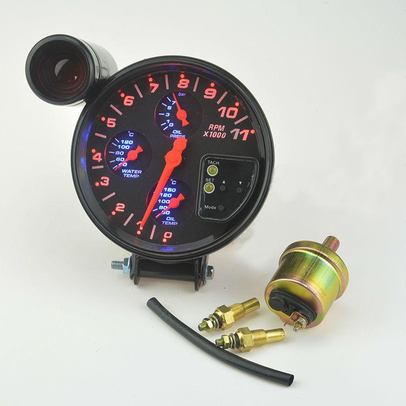 New 4 IN 1 car Mdified Water temperature gauge Oil temp