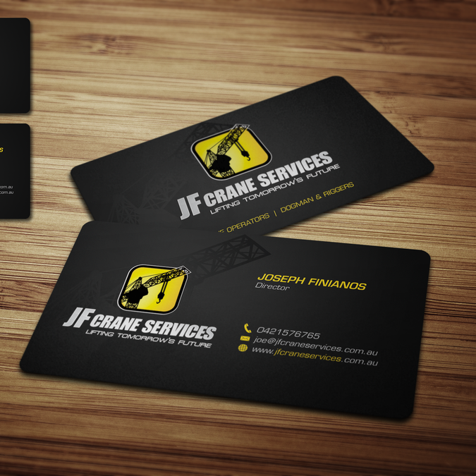 Creative Bussiness Cards For A Crane Company Business Card Contest Company Business Cards Business Card Design High Quality Business Cards