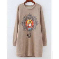 SHARE & Get it FREE | Fleece Peking Opera Mask Print Long SweatshirtFor Fashion Lovers only:80,000+ Items • FREE SHIPPING Join Twinkledeals: Get YOUR $50 NOW!
