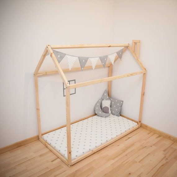 wood bed house frame bed baby bed nursery crib kids teepee children bed toddler bed children. Black Bedroom Furniture Sets. Home Design Ideas