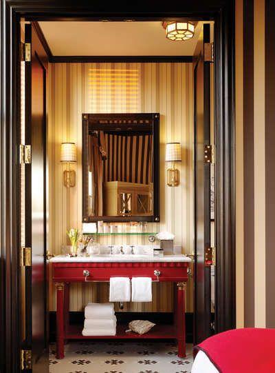 Stylish Washroom At The Citizen Hotel, Sacramento CA Candra Scott U0026  Anderson Interior Design