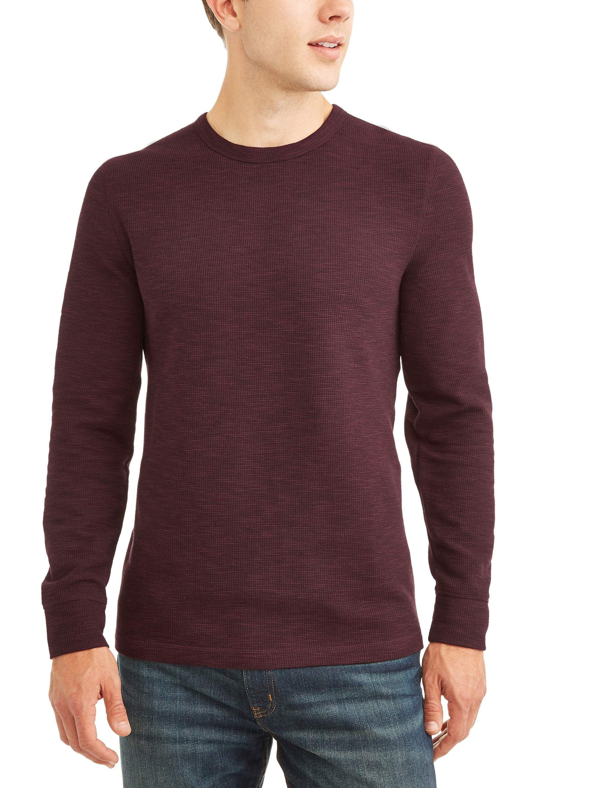 George George Men S Long Sleeve Thermal Crew Up To Size 5xl Walmart Com Maroon Shirts Long Sleeve Shirt Men Mens Long Sleeve [ 2667 x 2000 Pixel ]