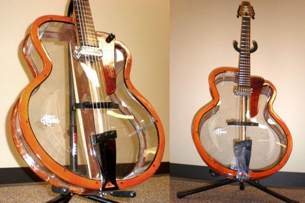 One Crazy Hollowbody Guitar By Hitone Guitars Guitar Cool Guitar Guitar Design
