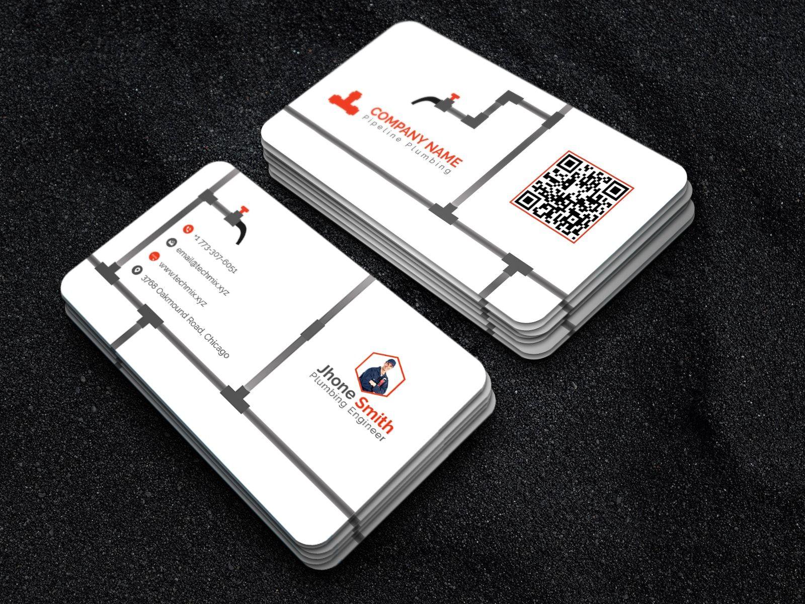 Best Plumber Business Card Template Vertical Business Card Design Business Cards Collection Business Cards Creative