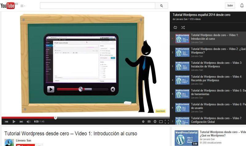 Excelente curso gratuito de WordPress desde cero que se compone de un total de 33 vídeos en español. Aprende a crear tu blog con este popular CMS.