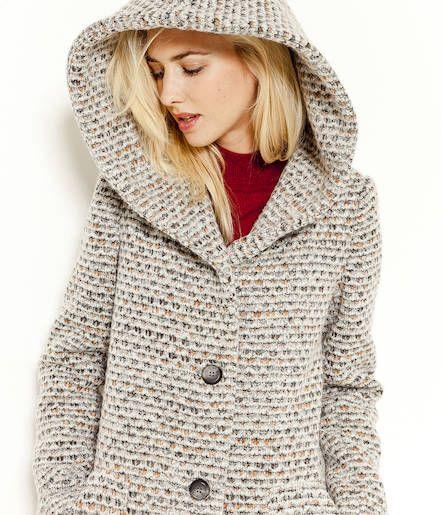 Manteau femme gris camaieu