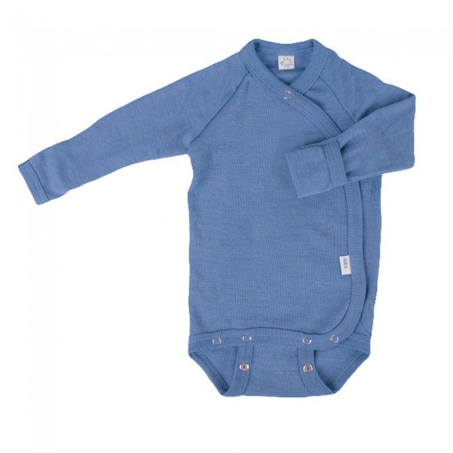 Wrap Over Premature Baby Bodysuit Or Vest In Organic Wool Silk