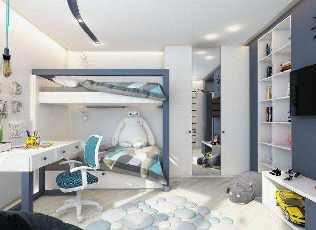 Chambre enfant design et tendance en 54 idées  rose ou bleu ? Lit