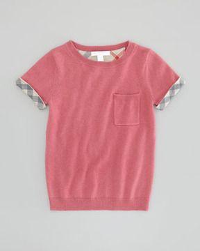 fcdc49ccb2c Burberry Girl s Knit Pocket Tee