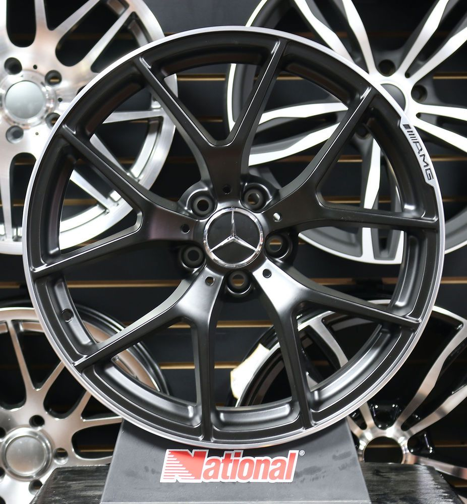 19 mercedes benz black series amg wheels black c class for Mercedes benz c300 aftermarket accessories