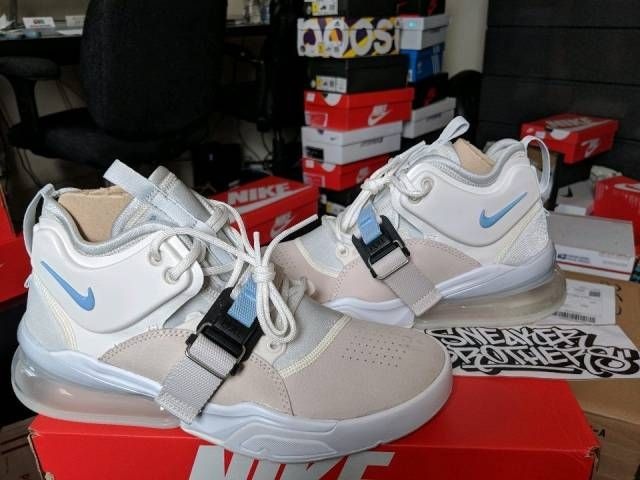 fb956239a31 Nike Air Force 270 Phantom Leche Blue Feel Big Platinum 1 White AF1 AH6772- 003