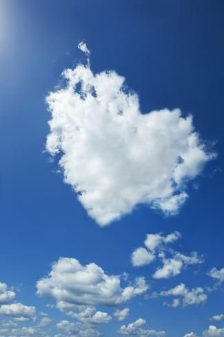 'Clouds Forming Heart in Sky' Photographic Print - Yuji Sakai | Art.com