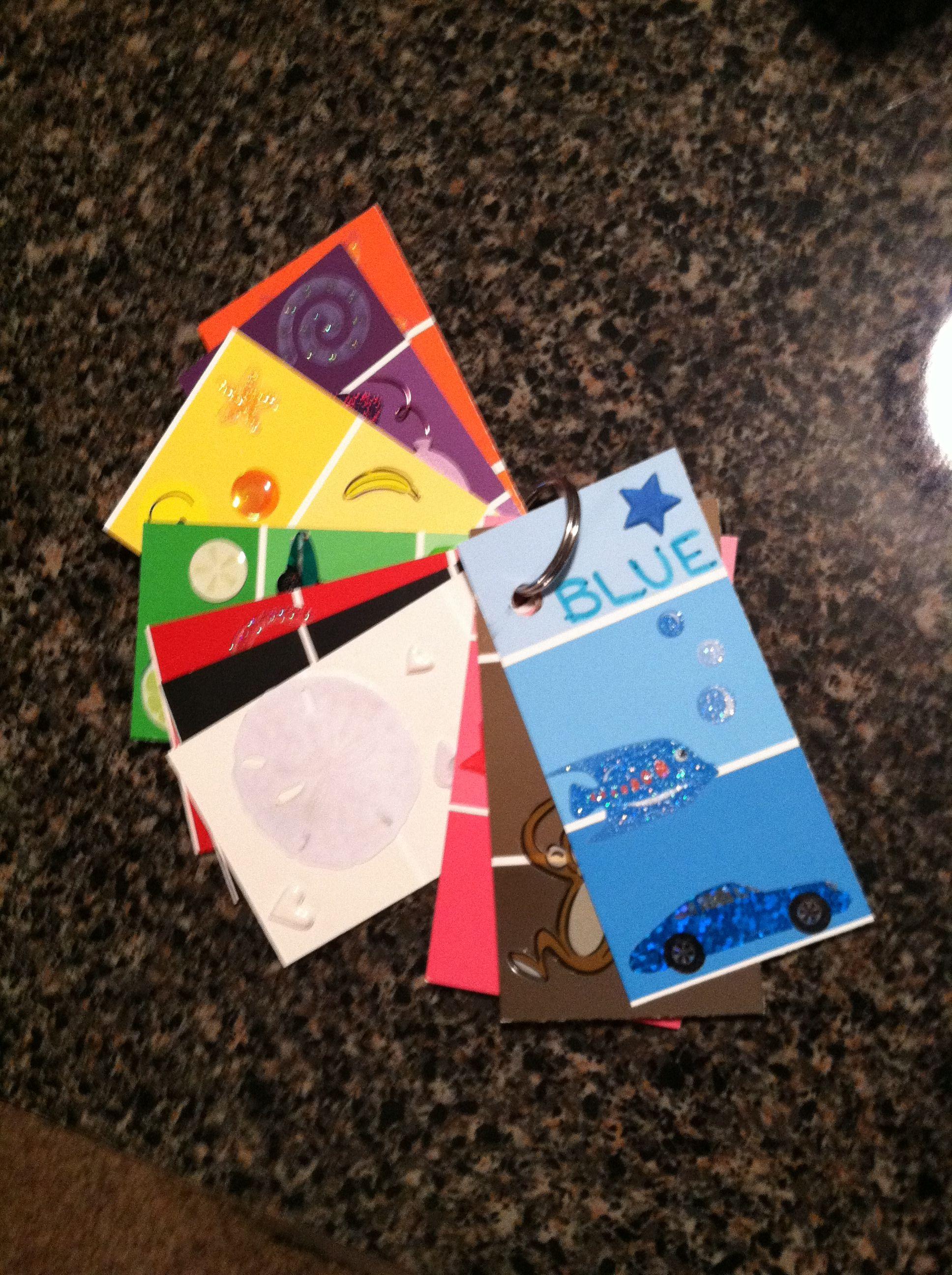My color flip book DONE Pinterest