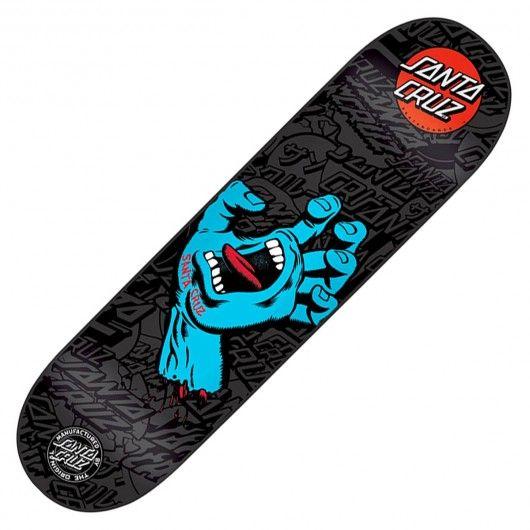 Board santa cruz skateboards screaming hand deck black