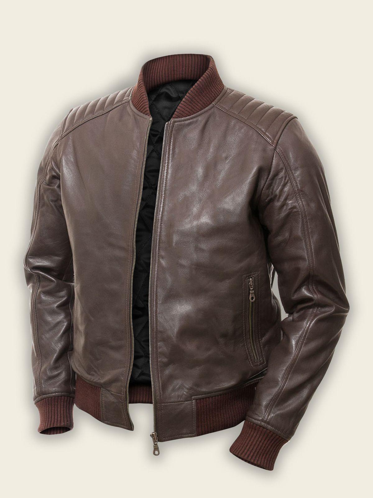 Men Dark Brown Bomber Jacket Men Fashion Jackets Men Fashion Brown Bomber Jacket Bomber Jacket Men [ jpg ]